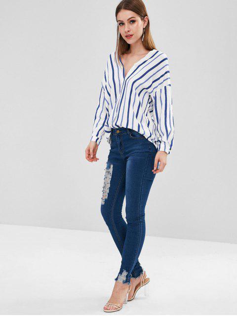 Jeans destruidos flacos - Azul Denim 2XL Mobile