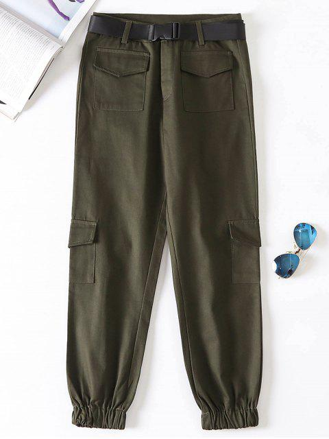 hot Jogger Pants with Belt - MOCCASIN M Mobile