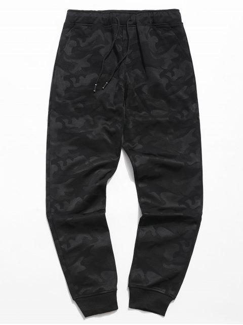 lady Camo Elastic Waist Jogger Pants - BLACK 3XL Mobile