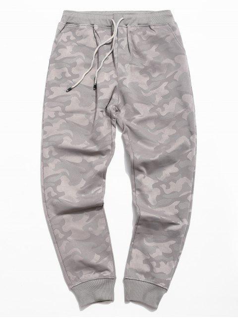 outfit Camo Elastic Waist Jogger Pants - GRAY 3XL Mobile