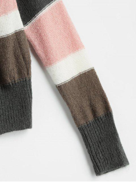 lady Wide Stripe Sweater - MULTI ONE SIZE Mobile