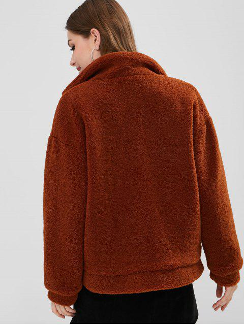 latest Fluffy Sherpa Faux Fur Winter Coat - SIENNA S Mobile