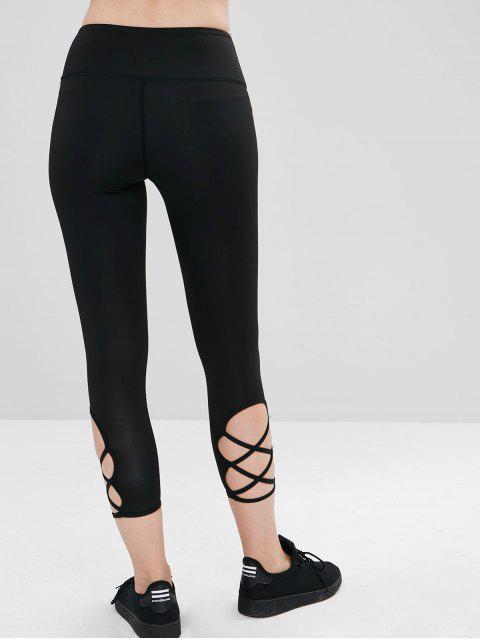 Calzas atléticas Capri de Criss Cross - Negro L Mobile