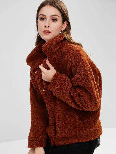 Image of Faux Fur Fluffy Winter Coat