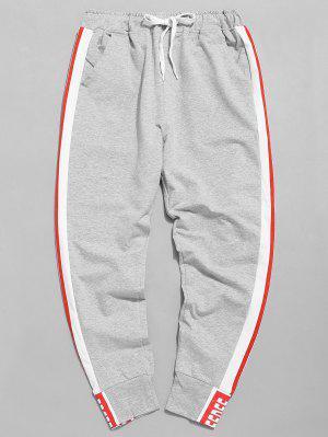 Side Stripe Elastische Taille Jogger Hose