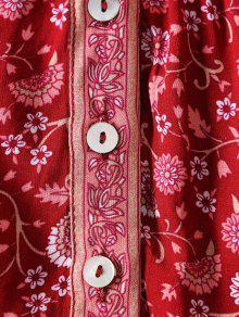 Florales Botones Botones Con Florales Con Min Vestido Vestido Min Vestido 55Hr6F0q