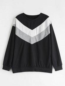 Shoulder Drop Negro Zag Zig Sweatshirt M EY6AwRqqn