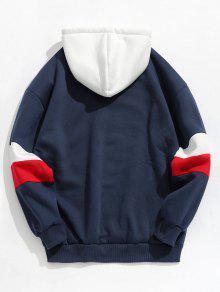 Profundo En Azul Sudadera Contraste M Stripe Con Fleece Capucha qEHv0