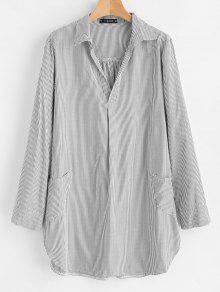 قميص مخطط صغير - متعدد S