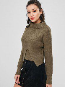 Slit Slit Sweater Sweater Chunky Mocas Chunky Sweater Chunky Slit Mocas OqwpaCf