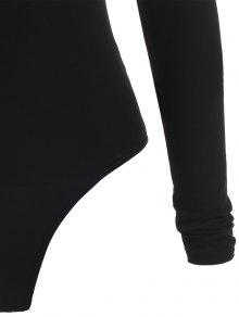 5a1114e25f44e 31% OFF  2019 Long Sleeve Turtleneck Snap Crotch Bodysuit In BLACK M ...