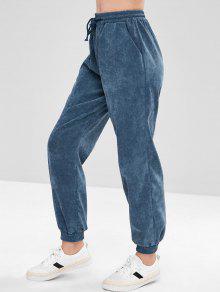 سروال قصير من كوردوروي - الأزرق الصلب L