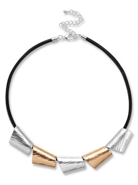 Einfachen Stil Metall Halskette - Schwarz