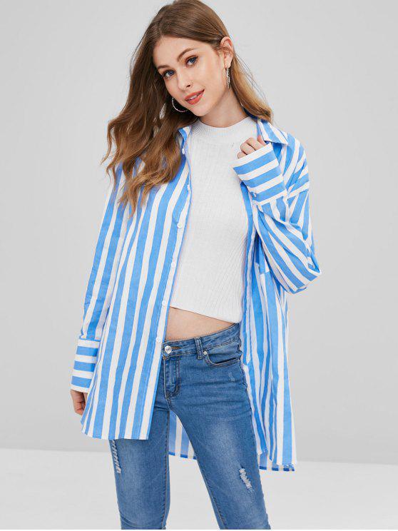 shops Stripe Oversized Shirt - MULTI S