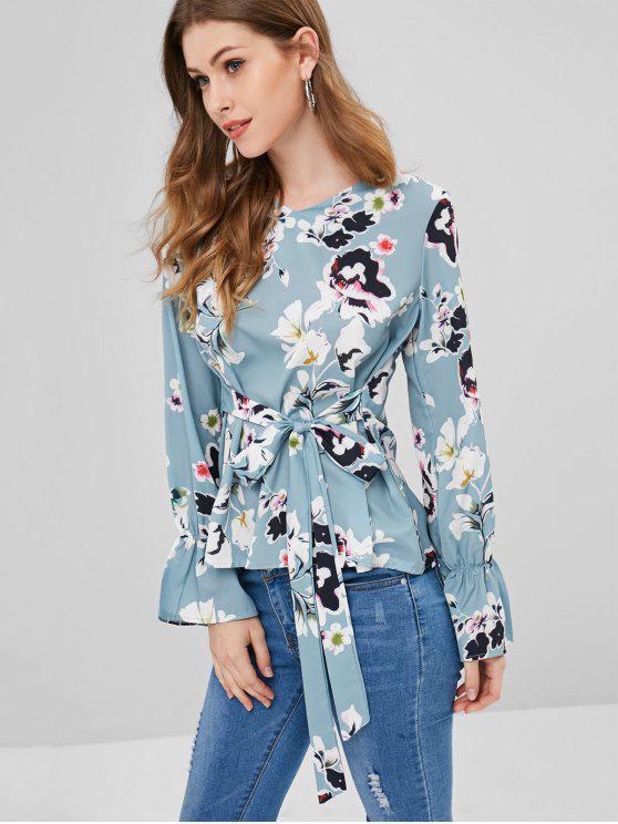 Corbata blusa floral - Multicolor S