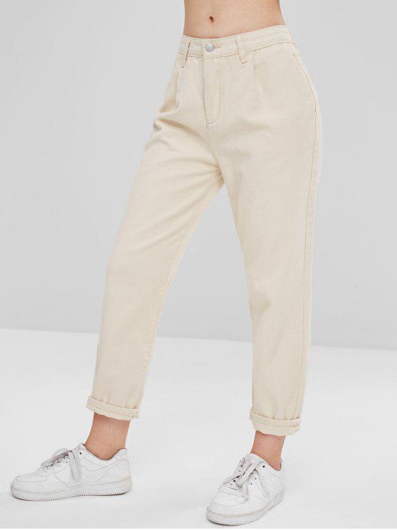 Jeans Rigid Mom Jeans - Branco Quente M