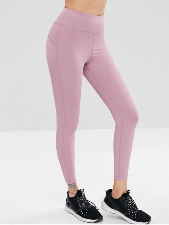 women's High Waisted Yoga Leggings - WISTERIA PURPLE L
