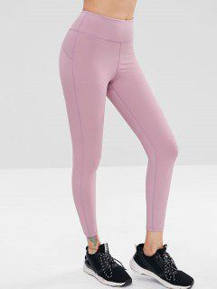 High Waisted Yoga Leggings - Wisteria Purple M