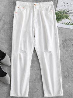 Pantalones Capri De Corte Recto - Blanco M