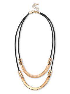 Collier En Perles De Métal - Noir