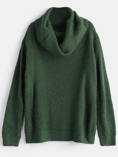 Loose Cowl Neck Sweater - Hazel Green