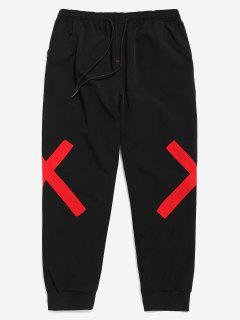Cross Patch Casual Jogger Pants - Red S