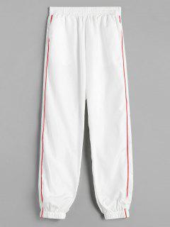 Piping Jogger Pants - White M