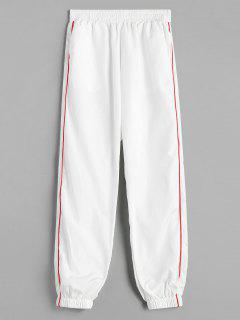 Piping Jogger Pants - White L