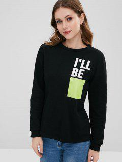 ZAFUL I Will Be Graphic Sweatshirt - Black M