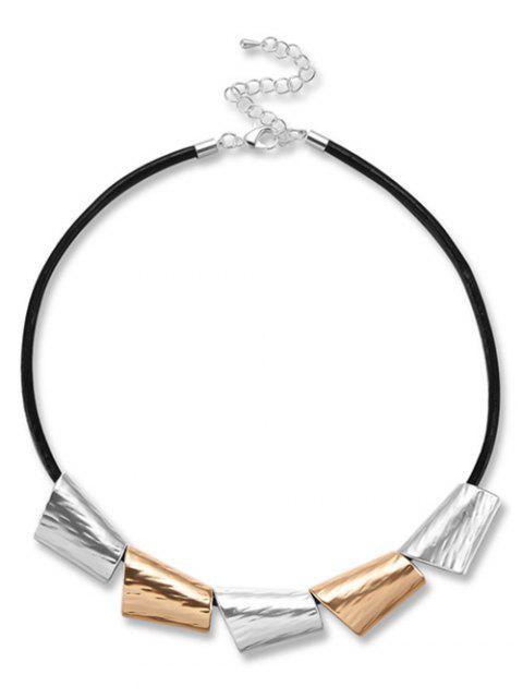 Einfachen Stil Metall Halskette - Schwarz  Mobile
