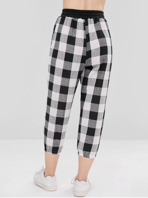 Pantalones de jogging de tela escocesa - Multicolor Talla única Mobile