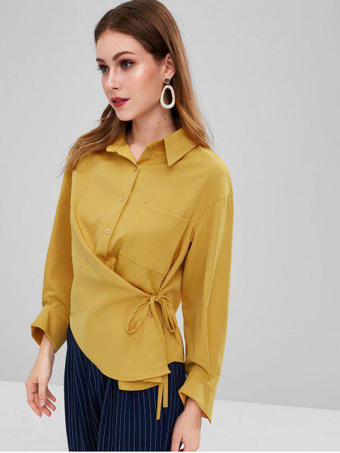 Camisa de tirantes con bolsillos laterales - Marrón Dorado Talla única Mobile