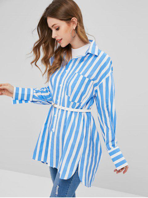 hot Stripe Oversized Shirt - MULTI M Mobile