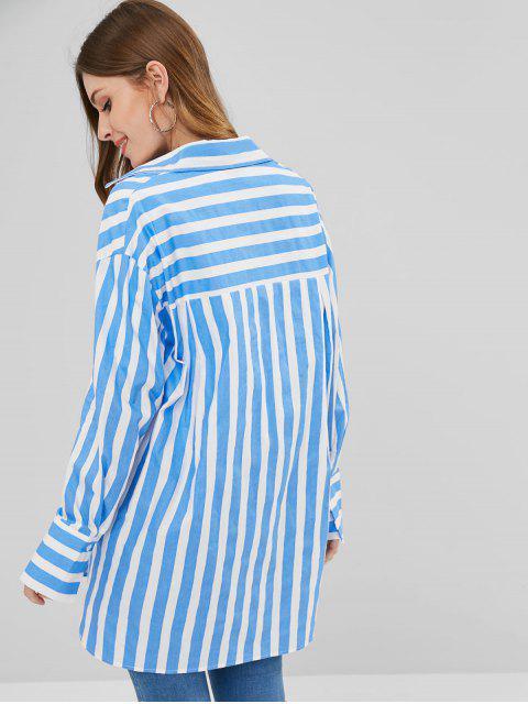 shops Stripe Oversized Shirt - MULTI S Mobile