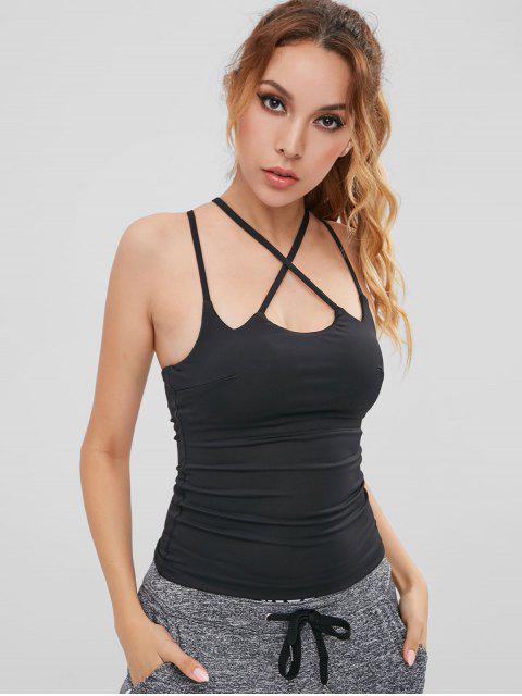 Camisole Croisée Rembourrée - Noir M Mobile