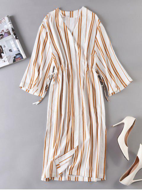 Gestreiftes Kleid mit gestreifter Taille - Multi S Mobile