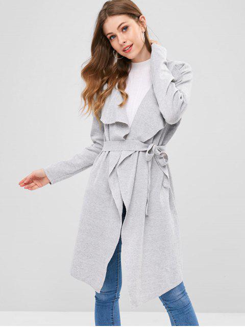 outfit Drape Wrap Cardigan - PLATINUM L Mobile