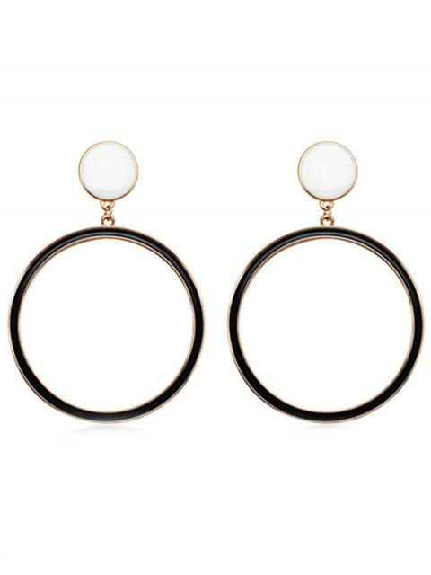 online Alloy Round Shaped Dangle Earrings - BLACK  Mobile