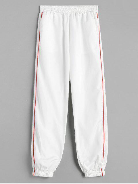 Pantalones de jogging de tubería - Blanco S Mobile