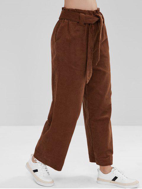 Pantalones anchos de pana anchos de pana - Marrón M Mobile