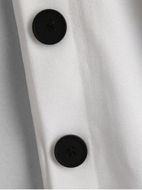 ZAFULサイドボタンワイドレッグパンツ - 白 S Mobile
