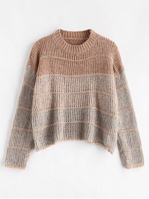 women Cropped Chunky Knit Sweater - MULTI ONE SIZE Mobile