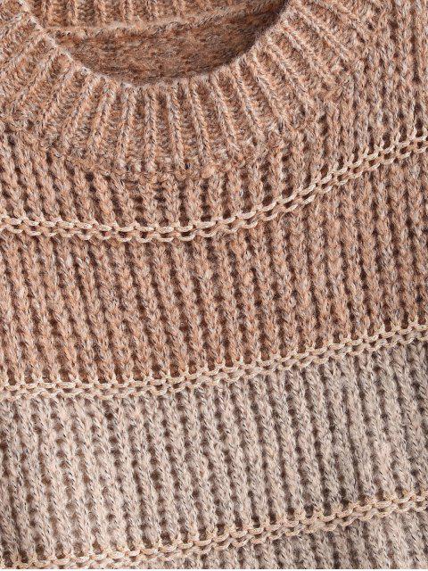 Geschnittener Klobiger Strick Pullover - Multi Eine Größe Mobile