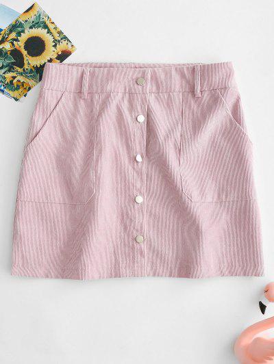 ZAFUL Button Front Corduroy Mini Skirt