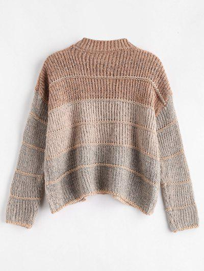 582f592433 ... Cropped Chunky Knit Sweater - Multi