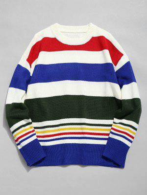 Mehrfarbiger Pullover mit Rundhalsausschnitt
