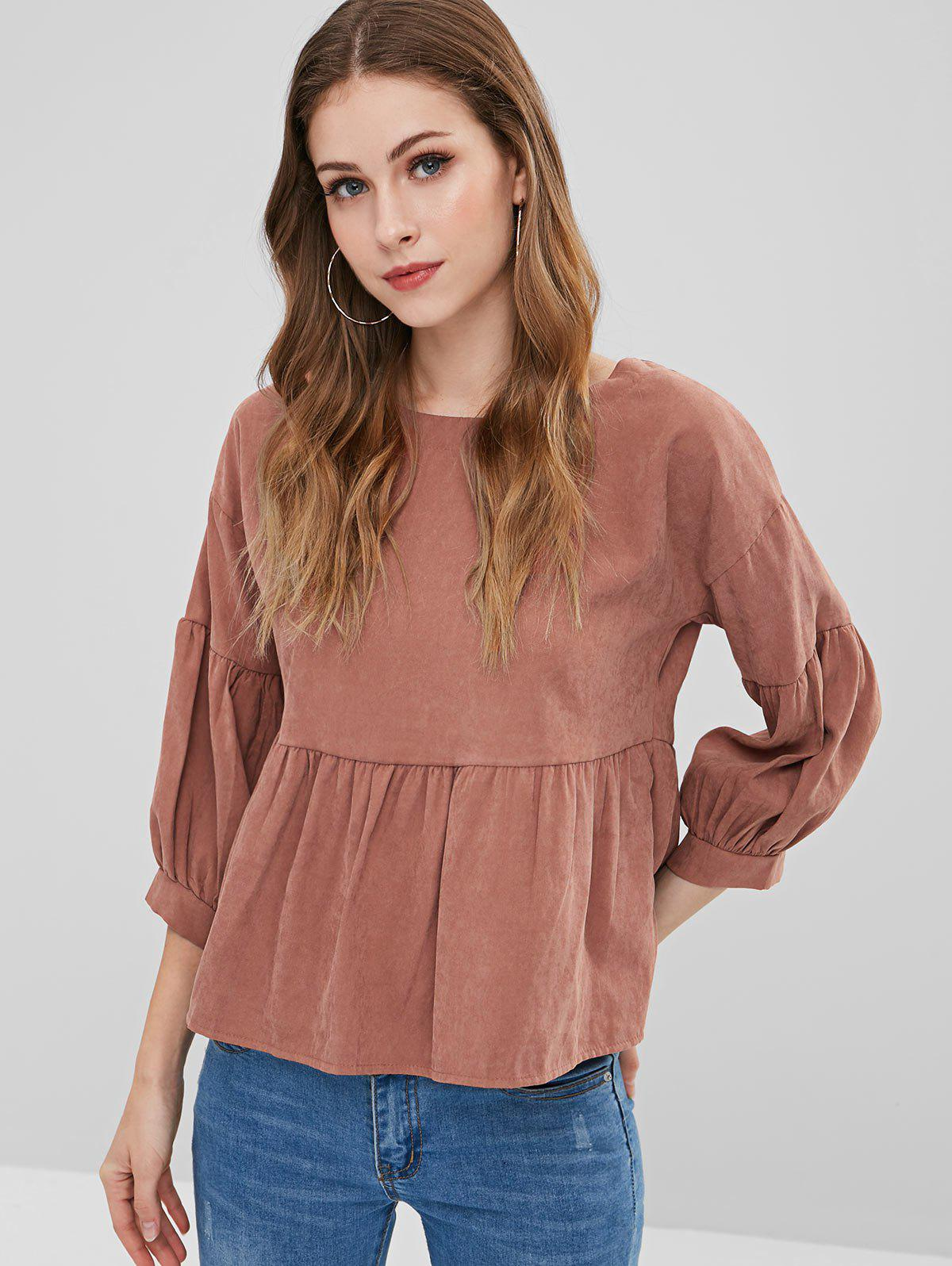 Back Knotted Cut Out Blouse
