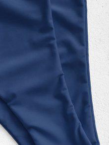 ZAFUL Backless High Cut Bandeau Swimsuit