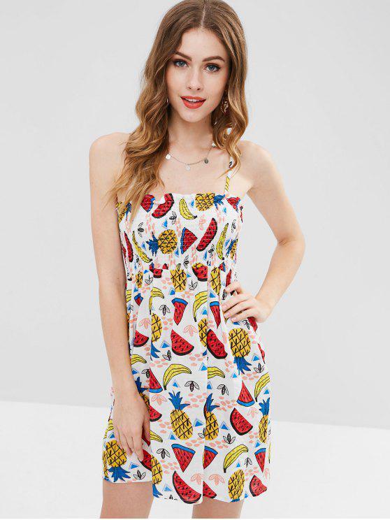 outfits Fruit Print Mini Cami Dress - MULTI M
