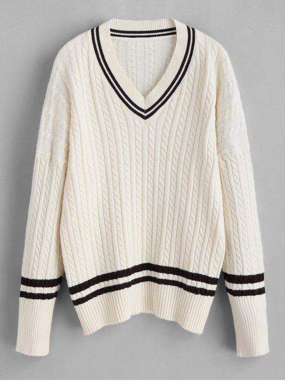new Cricket Sweater with Cable Knit - BEIGE ONE SIZE